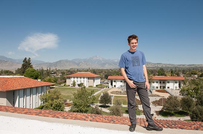 Benjamine Lachelt atop a university roof