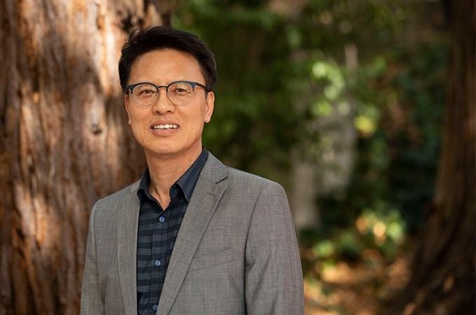 Graduate School of Theology Professor Eugene Park examines the New Testament through a historical lens. (Photo by Cali Godley)