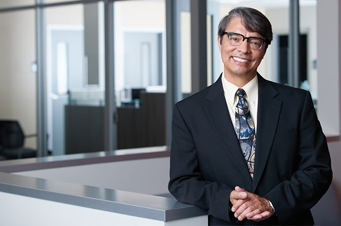 Naslund Endowed Dean Mario Martinez seeks new ways to increase the visibility of the School of Education and its commitment to educational justice. (Photo by William Vasta)