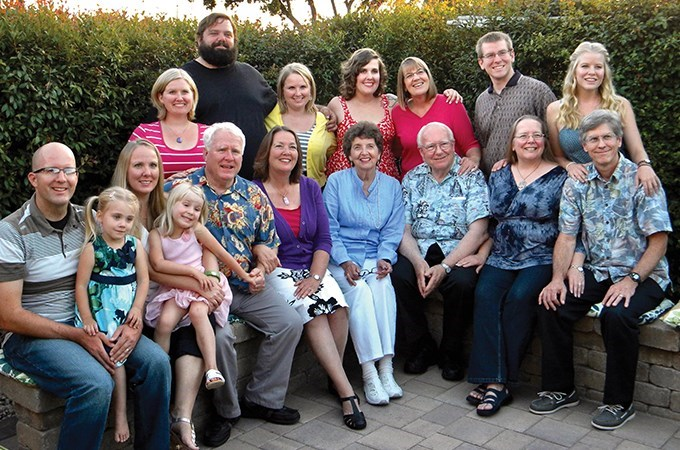 The Turnquist family gathers for a group photo.