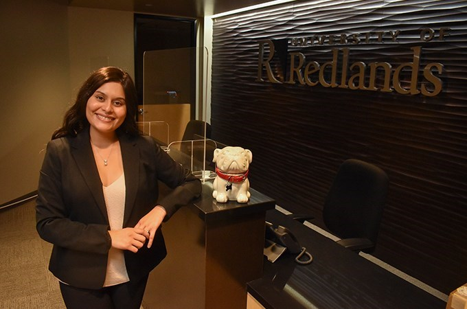 """At Redlands, every step of the way—from financial aid to applying to graduating—people were calling me and checking in to make sure I understood the information,"" says Alondra Gallardo '20, '21."