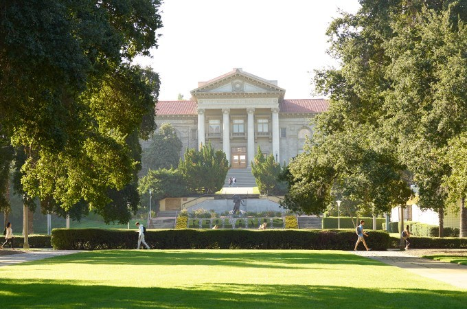 """University of Redlands is one of only 28 master's institutions to share the prestigious """"Top Fulbright Producer"""" designation. (Photo by William Vasta)"""