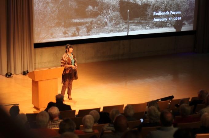 Lynn Valbuena speaks on San Manuel tribal issues