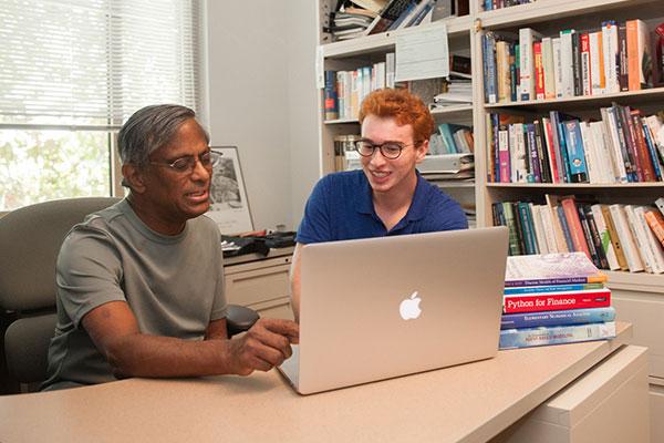 Student with professor
