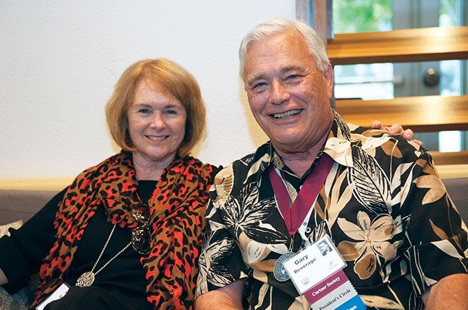 """I wouldn't have traded my Redlands experience for anything, and I am so glad it worked out the way it did,"" says Gary Beverage '66, here with his wife, Nancy Beverage."