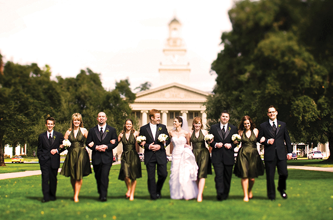 Wedding at University of Redlands