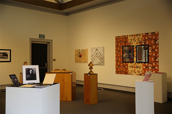 Visitors are greeted by an array of artwork.