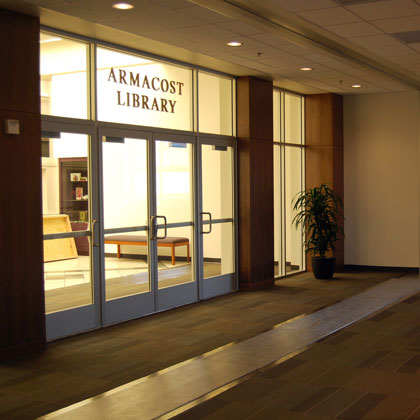 Photo of Armacost Library Faculty