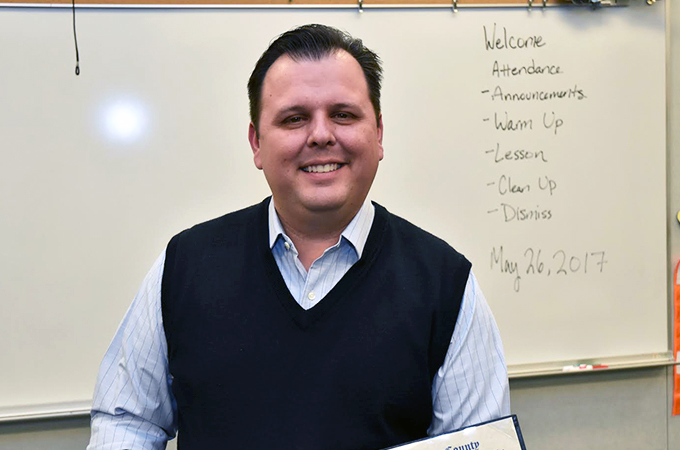California Teacher of the Year- Brian McDaniel