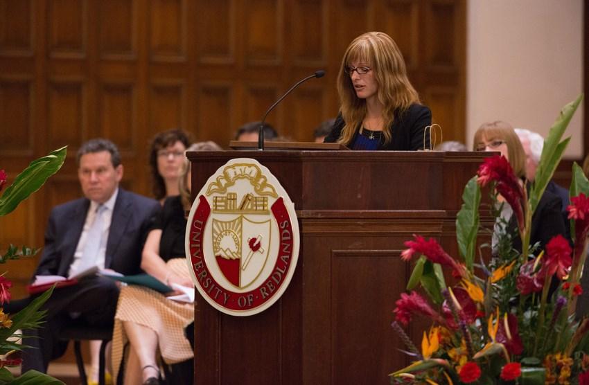 Women speaking at Honor's Convocation 2015 in Memorial Chapel.