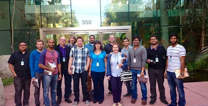 Students at ESRI Headquarters