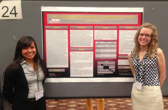 Students with their research poster