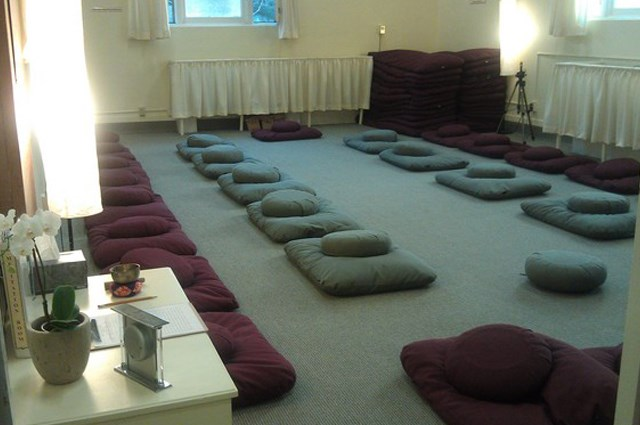 Empty Meditation Room in preparation for the session on Daoist Sitting Meditation.
