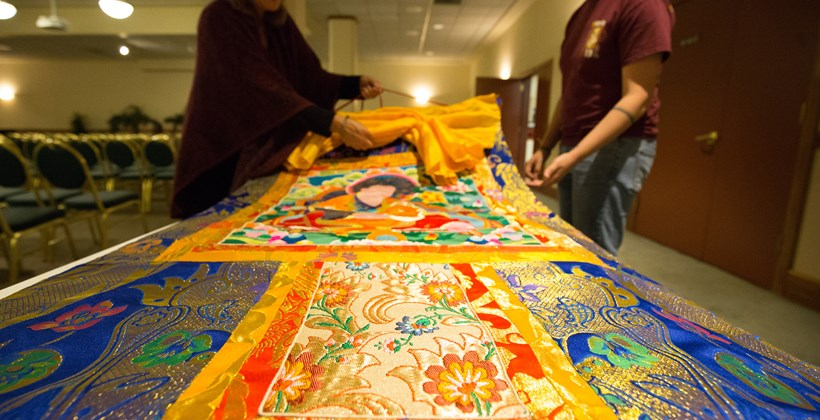 Buddhist cloth banner