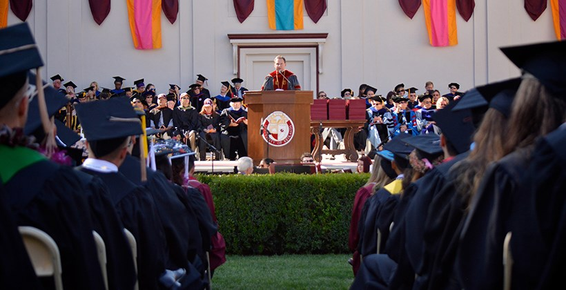 President Kuncl Speaking at Commencement