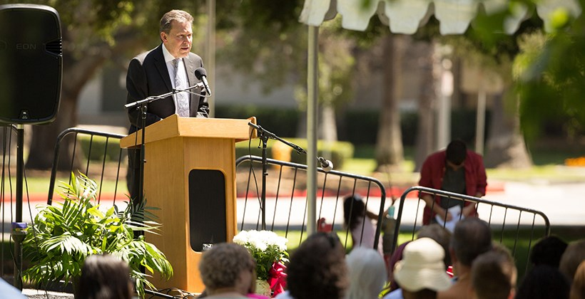 President Kuncl Speaking at Johnston Ceremony