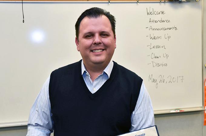 California teacher of the year Brian McDaniel