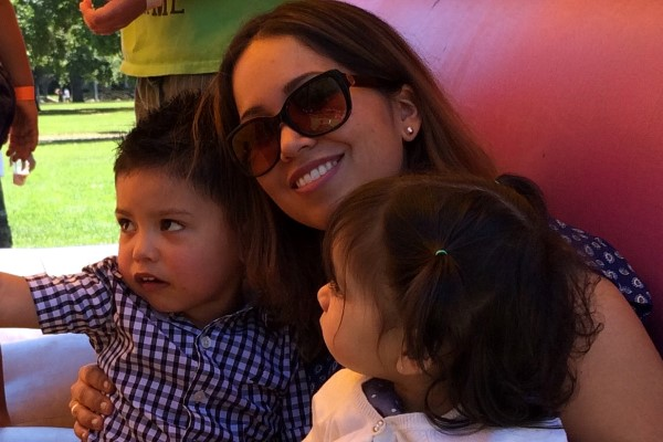 Cynthia Horta with Kids