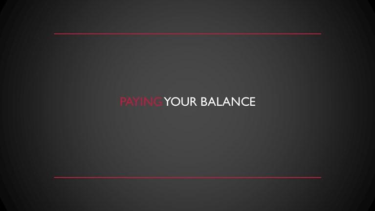 Paying your balance slide