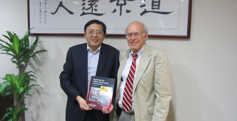 James Pick with Dr. Rongping Mu