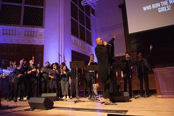 "Dedrick Bonner delivers Beyoncé's ""Run the World (Girls)"" in celebration of the power of women."
