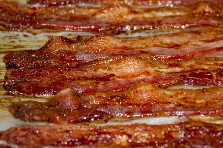 This bacon is edible.
