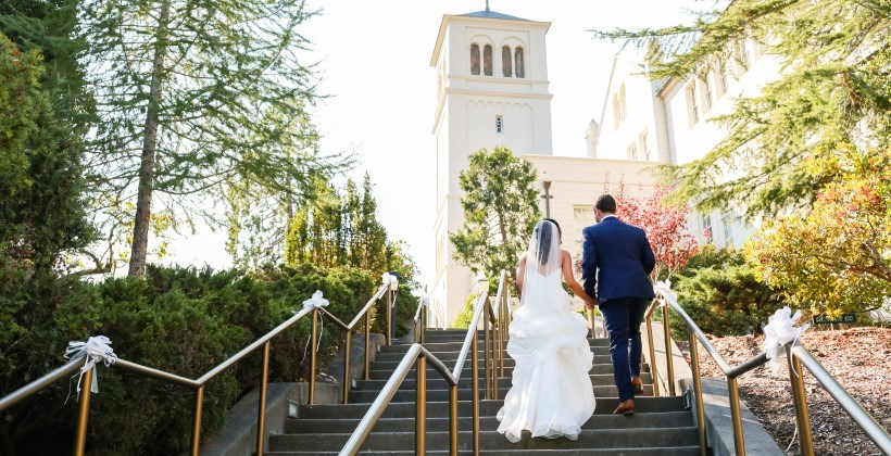 Stairs to Geneva Terrace and Stewart Chapel | Photo Credit: Kate's Captures Photography