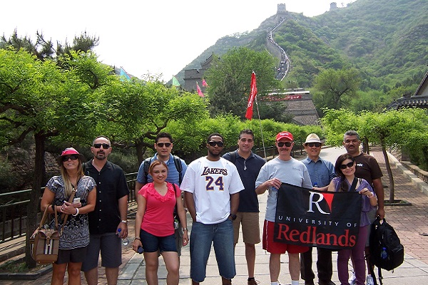 Group picture on the Great Wall of China