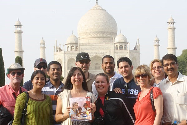 Group Trip at the Taj Mahal