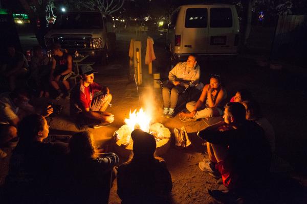 First Year Journey around a campfire