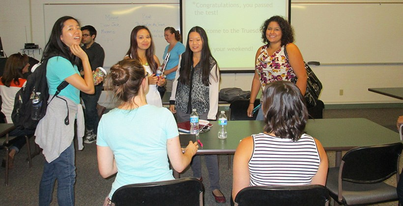 Graduate students at welcome orientation