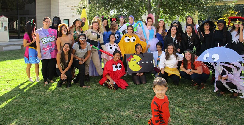 Students dressed up for the annual Truesdail Halloween carnival