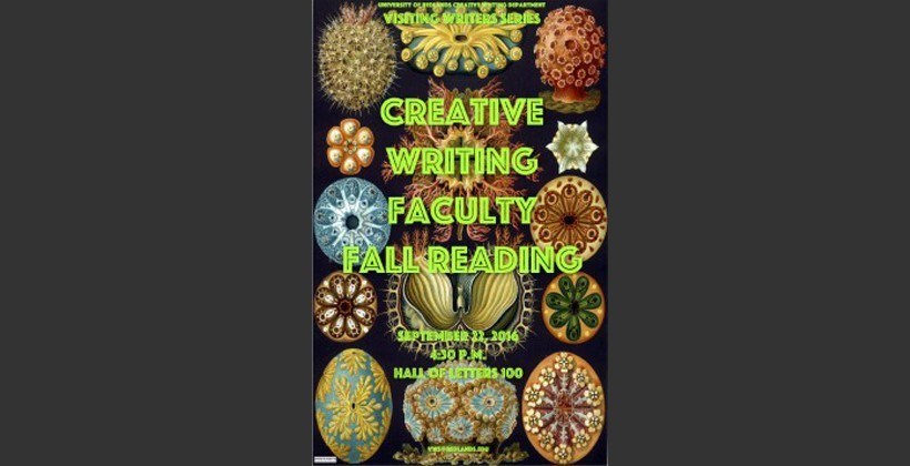 Creative Writing Fall Faculty reading poster